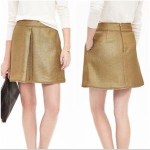 Banana Republic Gold Leaf Metallic Skirt